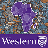 Western University logo with stylized Africa graphic